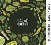 circular frame made of green... | Shutterstock .eps vector #1181471878