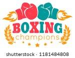 vector retro logo for a boxing... | Shutterstock .eps vector #1181484808