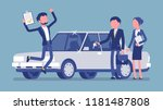 car loan approved. happy young... | Shutterstock .eps vector #1181487808