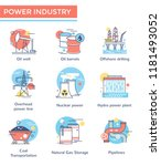 power industry concept icons ... | Shutterstock .eps vector #1181493052