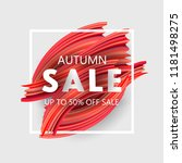 autumn sale banner up to 50 ...   Shutterstock .eps vector #1181498275