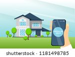 smart home app with control...   Shutterstock .eps vector #1181498785