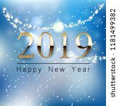 a beautiful new year greeting... | Shutterstock .eps vector #1181499382