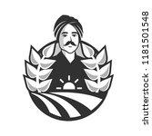 indian farmer vector... | Shutterstock .eps vector #1181501548