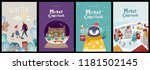 christmas cute cards or... | Shutterstock .eps vector #1181502145