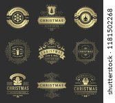 christmas labels and badges... | Shutterstock .eps vector #1181502268