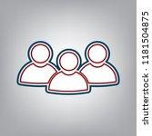 team work sign. vector. dark... | Shutterstock .eps vector #1181504875
