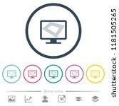 screen saver on monitor flat... | Shutterstock .eps vector #1181505265