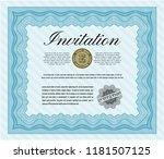 light blue formal invitation....   Shutterstock .eps vector #1181507125