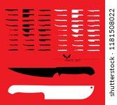 set of butcher meat knives for... | Shutterstock .eps vector #1181508022