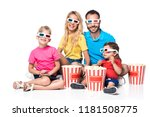 front view of family with... | Shutterstock . vector #1181508775