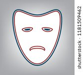 tragedy theatrical masks.... | Shutterstock .eps vector #1181509462