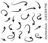 arrows. hand written filigree...   Shutterstock .eps vector #1181509798