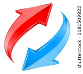 red and blue arrows set.... | Shutterstock .eps vector #1181509822