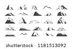 big set of mountain silhouette. ... | Shutterstock .eps vector #1181513092