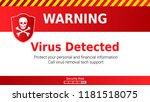 warning of malware attack ... | Shutterstock .eps vector #1181518075