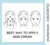 how to apply skin cream   illus   Shutterstock .eps vector #1181528752