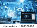 computer machine real time...   Shutterstock . vector #1181530108