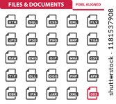 files   documents icons.... | Shutterstock .eps vector #1181537908