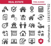 real estate icons. professional ... | Shutterstock .eps vector #1181537932