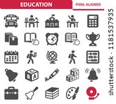 education icons. professional ... | Shutterstock .eps vector #1181537935