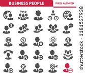 business people icons.... | Shutterstock .eps vector #1181537938