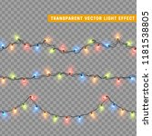 garlands color colorful... | Shutterstock .eps vector #1181538805