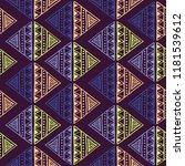 ethnic diamond tribal pattern.... | Shutterstock .eps vector #1181539612