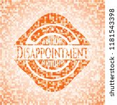 disappointment abstract orange...   Shutterstock .eps vector #1181543398