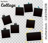 set of blank retro polaroid... | Shutterstock .eps vector #1181548258