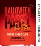 vector halloween banner with... | Shutterstock .eps vector #1181554105