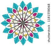 decorative stylized colorful... | Shutterstock .eps vector #1181558068