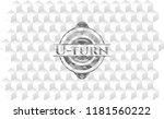 u turn grey badge with...   Shutterstock .eps vector #1181560222