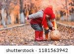 children are walking in nature. ...   Shutterstock . vector #1181563942