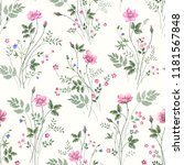 seamless floral pattern with... | Shutterstock .eps vector #1181567848