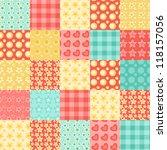 seamless patchwork pattern.... | Shutterstock . vector #118157056