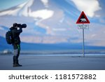photographer with big lens and... | Shutterstock . vector #1181572882