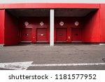 unloading ramp of trade mall | Shutterstock . vector #1181577952