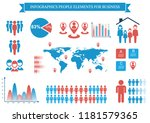 collection of infographic... | Shutterstock .eps vector #1181579365