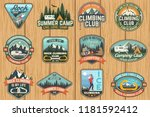 set of rock climbing club and... | Shutterstock .eps vector #1181592412