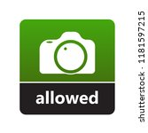 camera sign with label for... | Shutterstock .eps vector #1181597215
