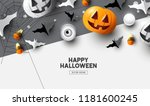 happy halloween holiday party... | Shutterstock .eps vector #1181600245