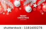 festive christmas composition... | Shutterstock .eps vector #1181600278