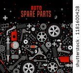 spare parts  expertise and... | Shutterstock .eps vector #1181600428