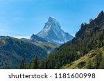 the matterhorn and beautiful... | Shutterstock . vector #1181600998