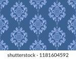 seamless blue floral wallpaper... | Shutterstock .eps vector #1181604592