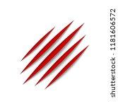 red claws animal scratch scrape ... | Shutterstock . vector #1181606572