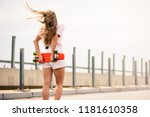 young beautiful blonde girl... | Shutterstock . vector #1181610358
