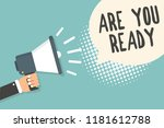 handwriting text are you ready. ... | Shutterstock . vector #1181612788
