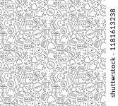 shopping seamless pattern | Shutterstock .eps vector #1181613238